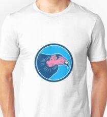 Vulture Head Circle Retro Unisex T-Shirt