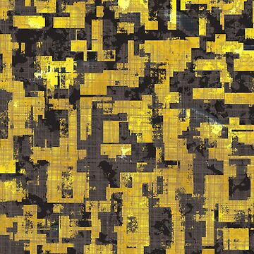 Abstract Urban Distorted Cubes Background Yellow by A-DIMENSION