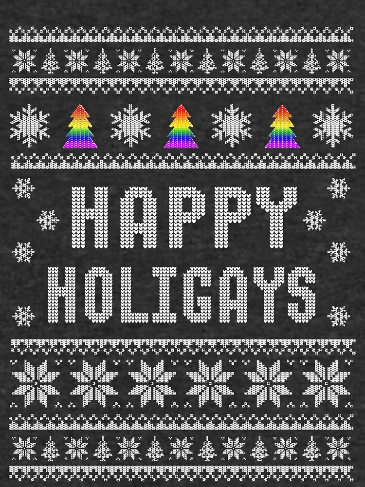 lgbt gay pride happy holigays happy holidays ugly christmas sweater pattern by dolceindigo