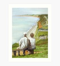 View West from Branscombe Hill Art Print