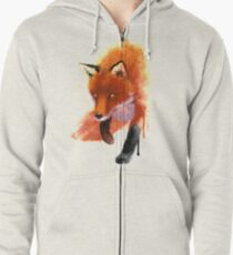 Fox ink Zipped Hoodie