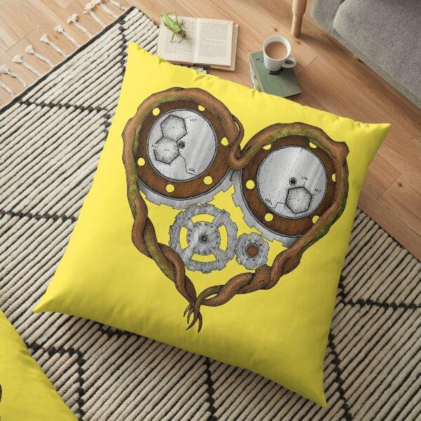 Chemistry of love: dopamine and serotonin formula (color version) Floor Pillow