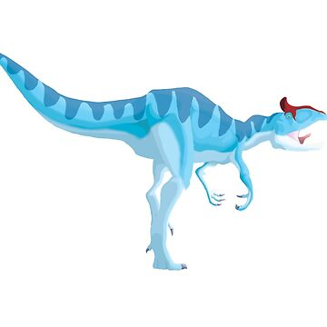 Ice Blue Cryolophosaurus by GoldenArchelon