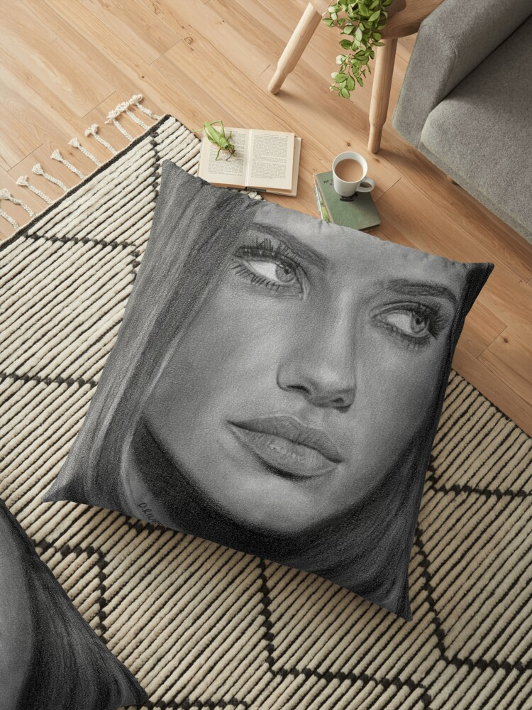 Adriana Lima 2 Pencil Drawing
