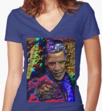 BO Women's Fitted V-Neck T-Shirt