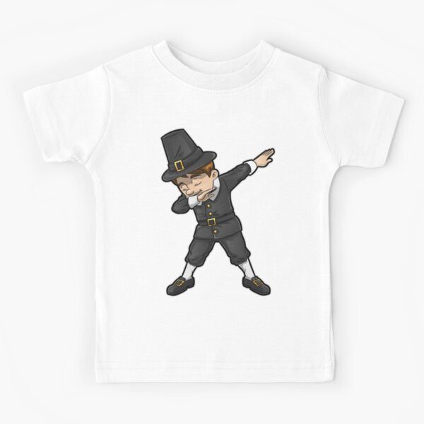 QqZXD Dabbing Turkey Shirt Thanksgiving Dab Fashion Mens T-Shirt and Hats Youth /& Adult T-Shirts