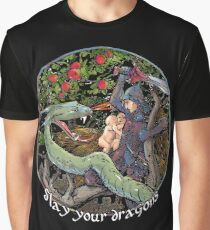 Slay Your Dragons. Gift for Jordan B. Peterson fans Graphic T-Shirt