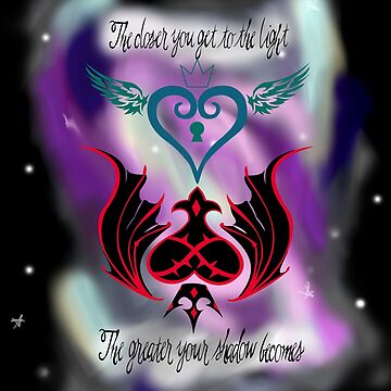 Kingdom Hearts Quote (Galaxy Background) by LunaHarker