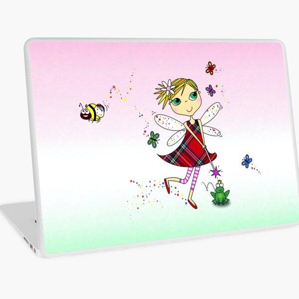 Cute Fairy Cartoon - Little Girls Dream Laptop Skin