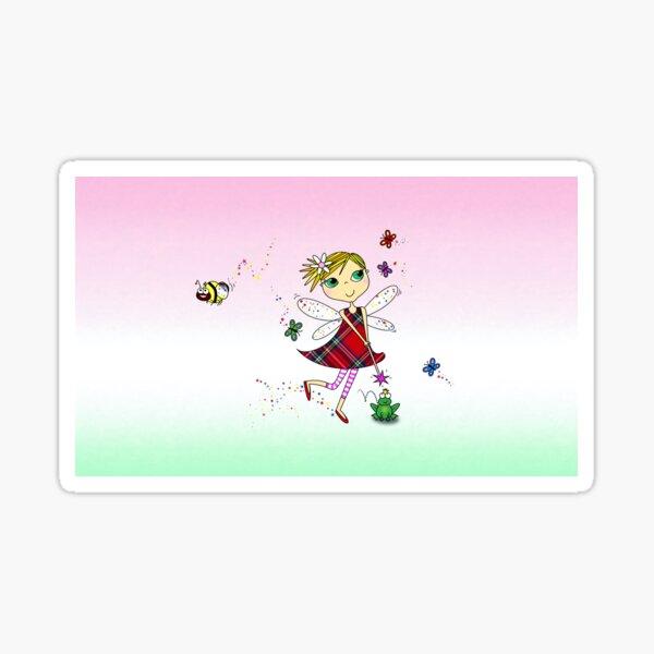 Cute Fairy Cartoon - Little Girls Dream Sticker