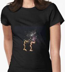 Colourful Fireworks Women's Fitted T-Shirt