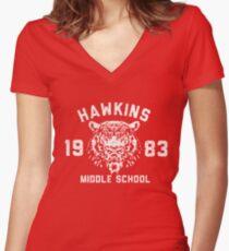 110. Stranger Things Icon Women's Fitted V-Neck T-Shirt