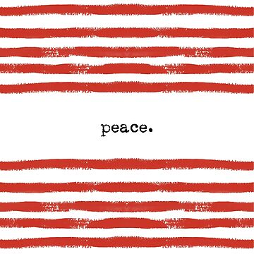 red stripes-peace by SylviaCook