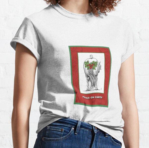 Peace on Earth, green border Classic T-Shirt