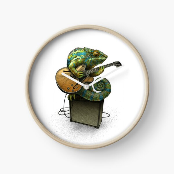 Chameleon Plays the Blues... plus a few other colors Clock