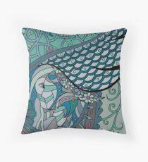 Wingish green single Throw Pillow