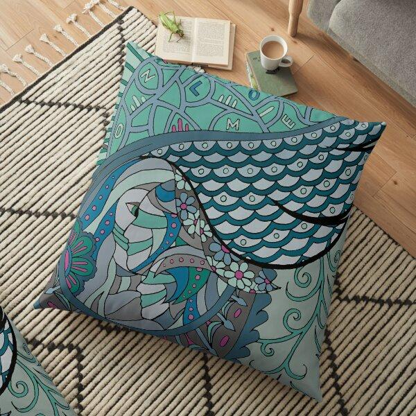 Wingish green single Floor Pillow