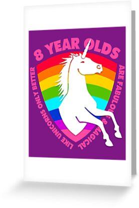 Unicorn 8th Birthday 8 Year Old Girls Gifts