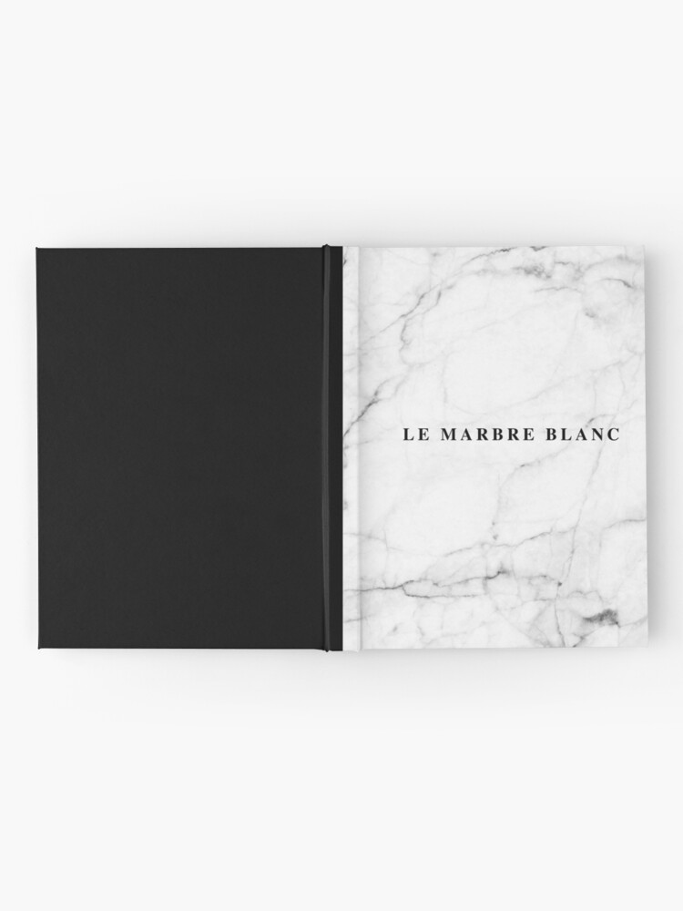 Alternate view of White marble french Hardcover Journal