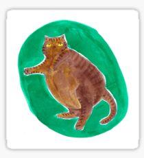 Fat Cat Green Ink Sticker