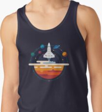 Space Shuttle and Planets Tank Top