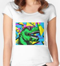 90's Party Dino Women's Fitted Scoop T-Shirt