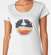 Space Shuttle and Planets Women's Premium T-Shirt