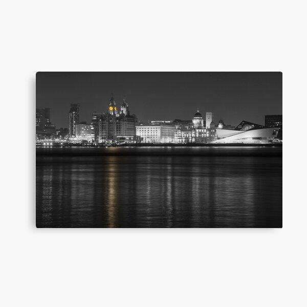 Liverpool Waterfront Selective Colour  Canvas Print