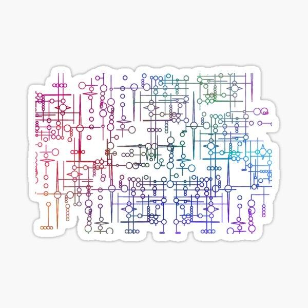 Multi Coloured Kree Symbols Sticker