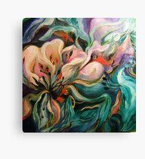 Hummingbird On Target Canvas Print