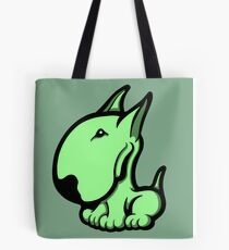 Odie English Bull Terrier Pale Green  Tote Bag