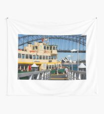 Sydney ferry, harbour bridge and Opera House Wall Tapestry