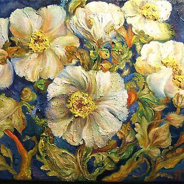 Poppies Crowd My Vase by Hawkski
