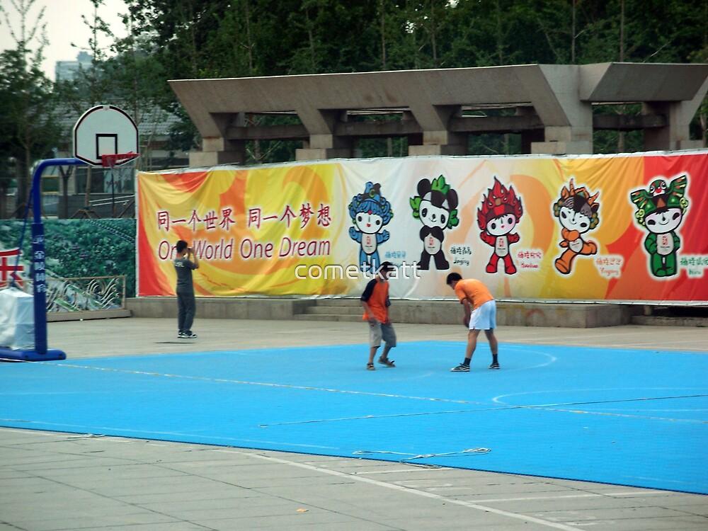 Kids  playing in Bejing by cometkatt