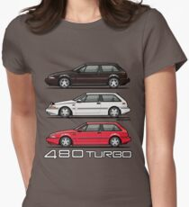 Stack of Volvo 480 Turbos Women's Fitted T-Shirt