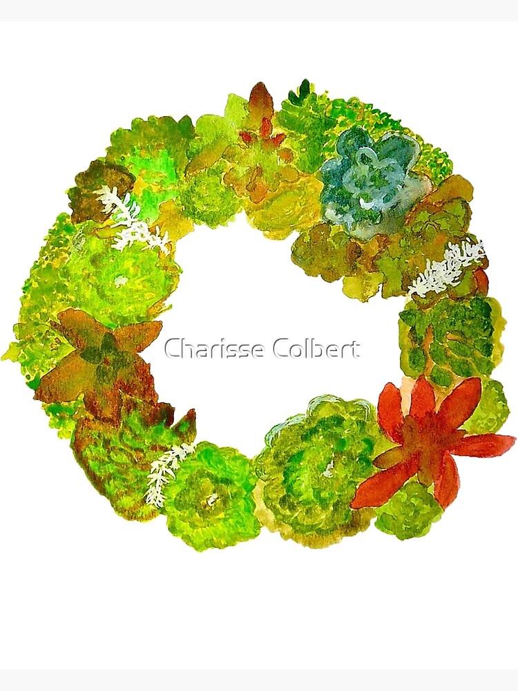 Succulent Wreath by charissecolbert