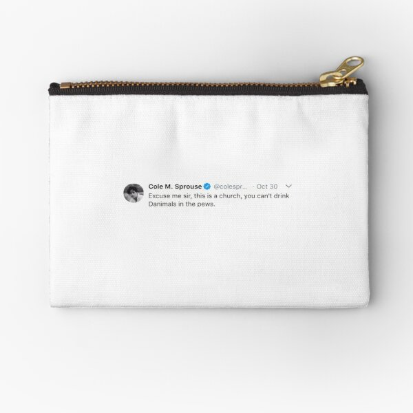 Cole Sprouse Twitter Zipper Pouch