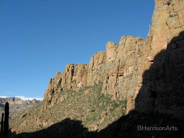 Late Afternoon in the Superstition Mountains, Arizona, USA by BHarrisonArts