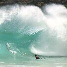 Shorebreak Sandy Beach Oahu  by kevin smith  skystudiohawaii
