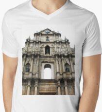 Ruins of St. Paul's V-Neck T-Shirt