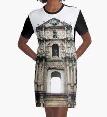 Ruins of St. Paul's Graphic T-Shirt Dress