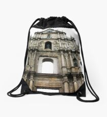Ruins of St. Paul's Drawstring Bag
