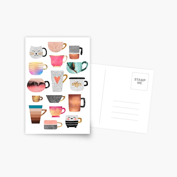 Coffee Cup Collection Postcard