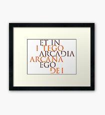 Et In Arcadia Ego Framed Print