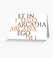 Et In Arcadia Ego Greeting Card