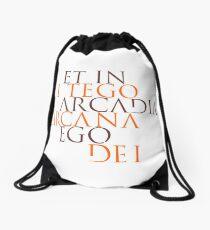 Et In Arcadia Ego Drawstring Bag