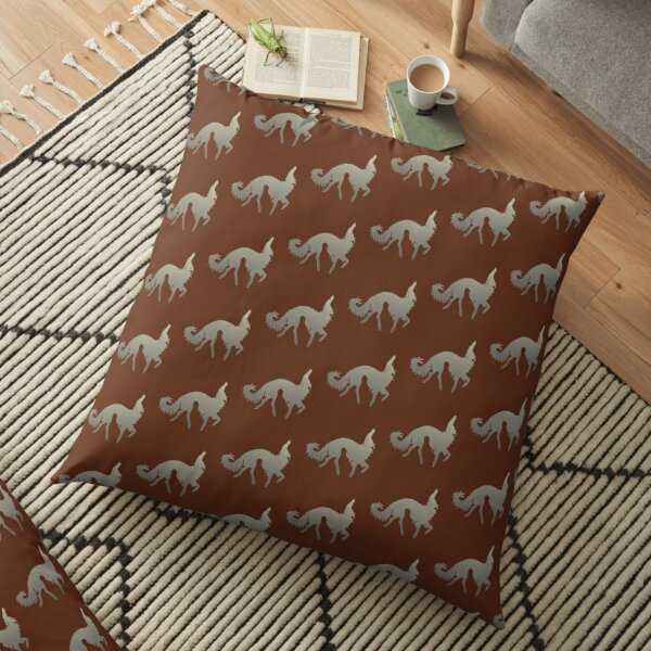 Borzoi Prance Floor Pillow