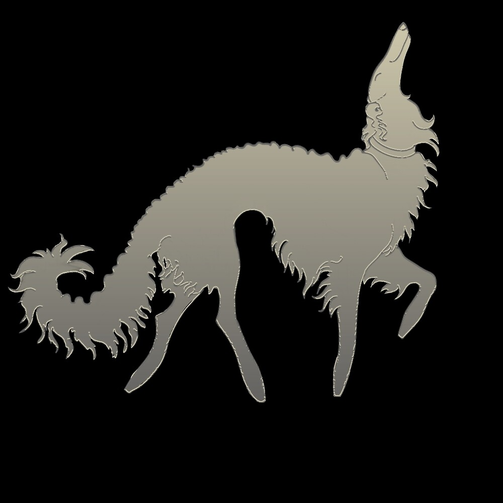 Borzoi Prance by Happy Dog Swag