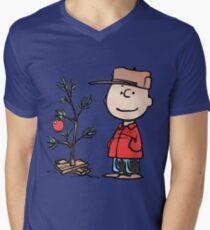 Charlie Brown Tree Men's V-Neck T-Shirt