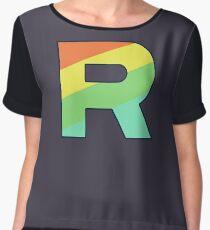 Rainbow Rocket Women's Chiffon Top